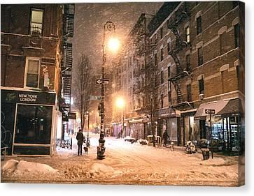 New York City - Snow - Lower East Side Canvas Print
