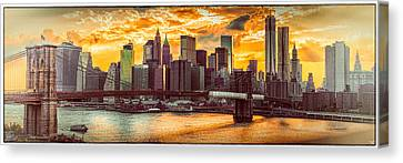 New York City Summer Panorama Canvas Print by Chris Lord