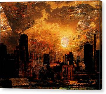 New York City Sunrise Canvas Print by Bruce Rolff