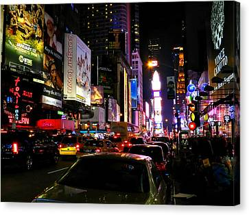New York City - Times Square 002 Canvas Print by Lance Vaughn