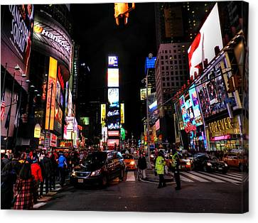 New York City - Times Square 008 Canvas Print by Lance Vaughn