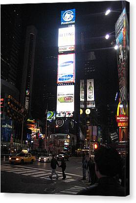 New York City - Times Square - 121215 Canvas Print by DC Photographer