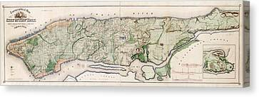 New York City Topography Canvas Print by Library Of Congress, Geography And Map Division