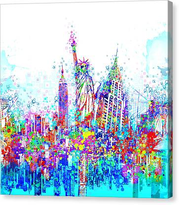 New York City Tribute 3 Canvas Print