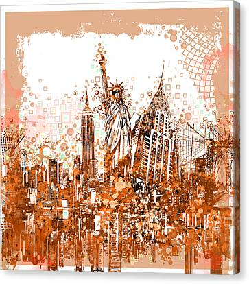 New York City Tribute 4 Canvas Print