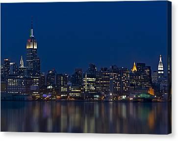 Chrysler Canvas Print - New York City Twilight by Susan Candelario