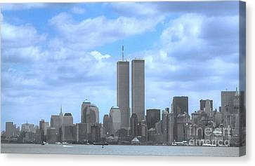 New York City Twin Towers Glory - 9/11 Canvas Print by Tap On Photo