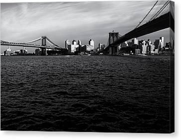 New York City - Two Bridges Canvas Print by Vivienne Gucwa
