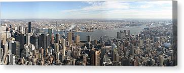 New York City - View From Empire State Building - 12121 Canvas Print by DC Photographer
