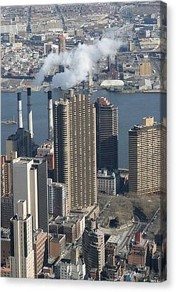 New York City - View From Empire State Building - 121215 Canvas Print by DC Photographer