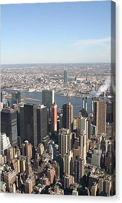 New York City - View From Empire State Building - 121218 Canvas Print by DC Photographer