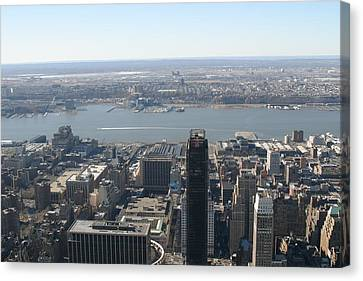 Newyork Canvas Print - New York City - View From Empire State Building - 12122 by DC Photographer