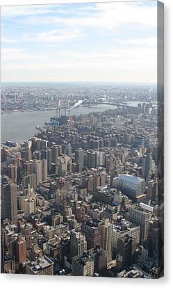 New York City - View From Empire State Building - 121221 Canvas Print by DC Photographer