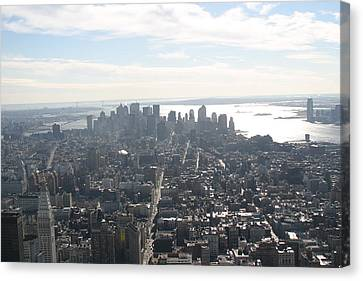 New York City - View From Empire State Building - 121222 Canvas Print by DC Photographer