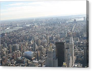 New York City - View From Empire State Building - 121223 Canvas Print by DC Photographer