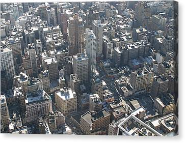 New York City - View From Empire State Building - 121226 Canvas Print by DC Photographer