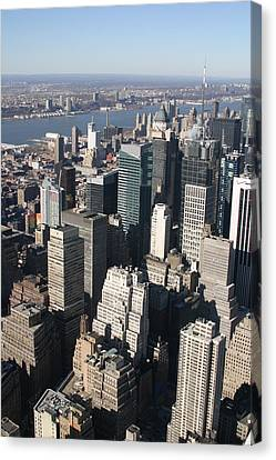 New York City - View From Empire State Building - 121229 Canvas Print by DC Photographer