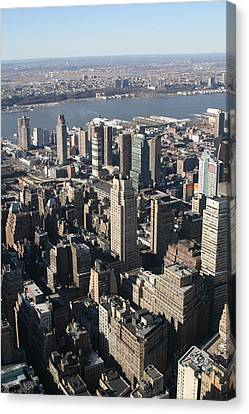 New York City - View From Empire State Building - 121230 Canvas Print by DC Photographer
