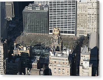 Skyline Canvas Print - New York City - View From Empire State Building - 121231 by DC Photographer
