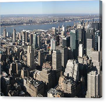 New York City - View From Empire State Building - 121234 Canvas Print by DC Photographer