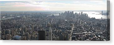 New York City - View From Empire State Building - 121235 Canvas Print by DC Photographer