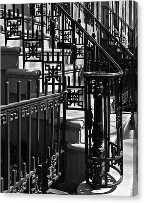 Canvas Print featuring the photograph New York City Wrought Iron by Rona Black