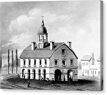 New York Exchange, 1752 Canvas Print by Granger