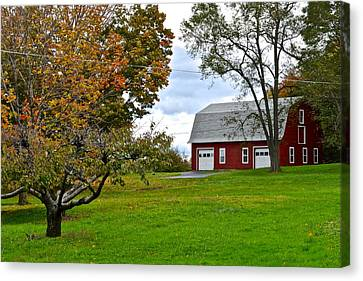 New York Farm Canvas Print by Frozen in Time Fine Art Photography