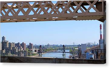 New York From New York Window Canvas Print by Suzanne Perry