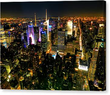 New York - From The Empire State Building 003 Canvas Print by Lance Vaughn