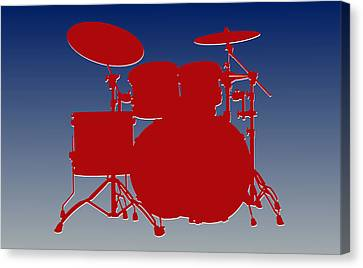 New York Giants Drum Set Canvas Print by Joe Hamilton