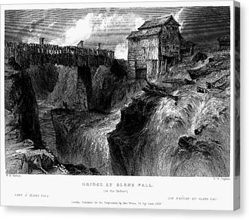 Canvas Print featuring the painting New York Glens Fall, 1839 by Granger