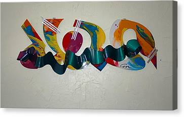 New York Graffiti Canvas Print by Mac Worthington