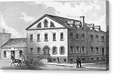 New York House, 1840 Canvas Print by Granger