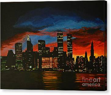 New York In Glory Days Canvas Print by Denisa Laura Doltu