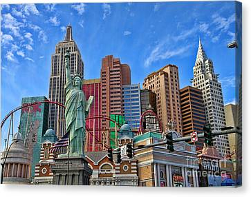 New York In Vegas By Diana Sainz Canvas Print