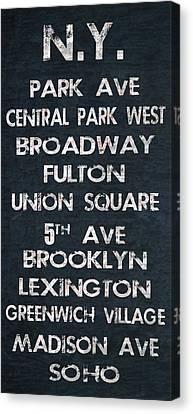 Bus Roll Canvas Print - New York by Jaime Friedman