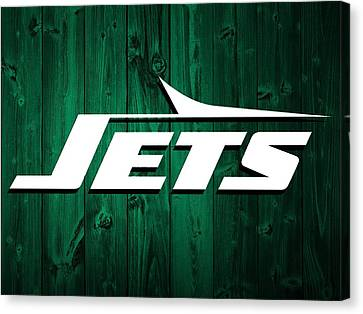 New York Jets Barn Door Canvas Print