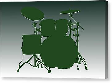 Jet Set Canvas Print - New York Jets Drum Set by Joe Hamilton