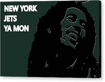 Jet Set Canvas Print - New York Jets Ya Mon by Joe Hamilton