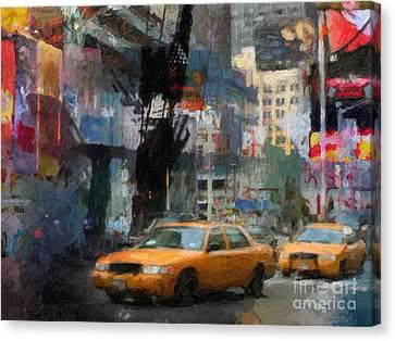 New York Lights Canvas Print by Lutz Baar
