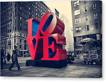 Newyorkcity Canvas Print - New York Love by Boris Gorelik