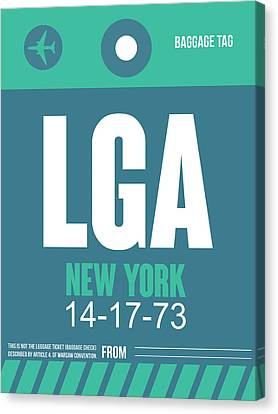 New York Luggage Poster 2 Canvas Print by Naxart Studio