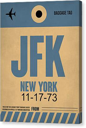 New York Luggage Tag Poster 2 Canvas Print by Naxart Studio