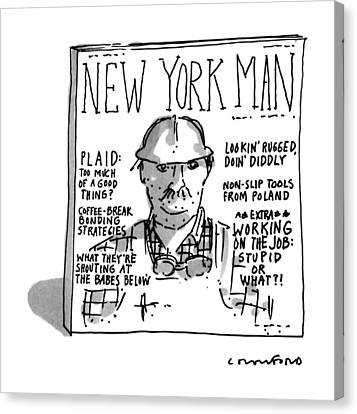New York Man Canvas Print by Michael Crawford