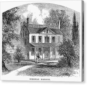 New York: Mansion, 1763 Canvas Print by Granger