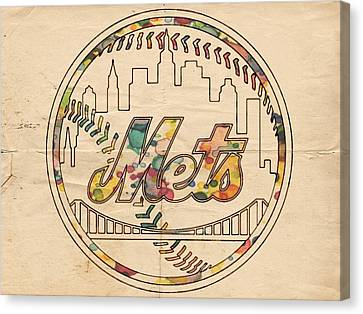 New York Mets Poster Vintage Canvas Print by Florian Rodarte