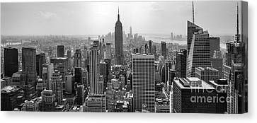 Repetition Canvas Print - New York Moody Skyline  by Az Jackson