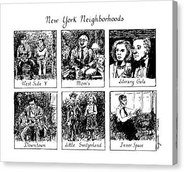 New York Neighborhoods Canvas Print by Huguette Marte