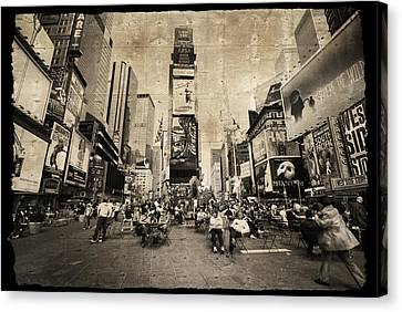 Canvas Print featuring the photograph New York New York by Barbara Manis